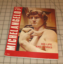 MICHELANGELO His Life and Works Profile of Genius Vintage Picture/Story Booklet