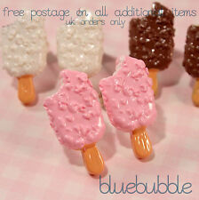 FUNKY ICE CREAM STUD EARRINGS CUTE KITSCH RETRO KAWAII JUNK FOOD SWEET CANDY EMO