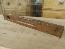 "Victorian Antique Mahogany & Brass Spirit Level "" J Rabone & Sons Birmingham """