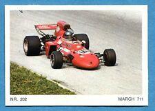 MOTO - Ed. Raf - Figurina/Sticker n. 202 - MARCH 711 -Rec