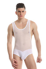 Body débardeur blanc taille XL transparence sheer plum sexy Ref 328 combinaison