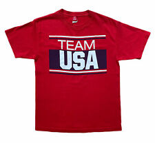 Vintage Olympics Team USA Committee Apparel Red T Shirt Size Medium