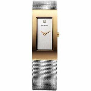 Bering Ladies Watch Wristwatch Slim Classic - 10817-001 Meshband