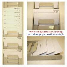 PORTABADGE FLESSIBILE CM.10X14 MAXI EXHIBITION PASS CON CORDINO STOFFA ROSSO