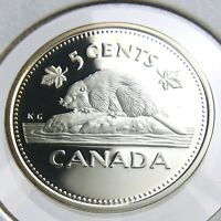 2002 Canada 5 Cents Silver Proof Uncirculated Canadian Elizabeth II Coin N366