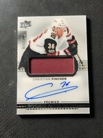 2017-18 UPPER DECK PREMIER CHRISTIAN FISCHER ROOKIE AUTO PATCH SILVER #ed 71/299