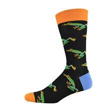 Bamboozld Socks Aus Design Mens Size 7-11 Rainforest Frog