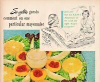 1948 Kraft Mayonnaise Vintage Print Ad Riviera Salad Recipe
