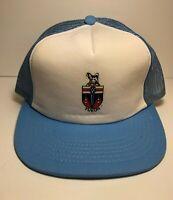 Vintage Yukon Souvenir Trucker Hat Mesh Cap Snapback Canadian Territory Blue