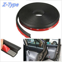 4M Black Z-Shape Car Door/Window Seal Hollow Sealing Kit Weather Strip Universal