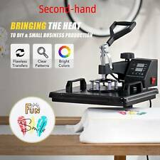 Secondhand T Shirt Heat Press Machine W 12x15in Heat Pad For Phone Cases Amp More