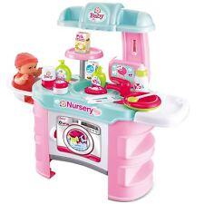 Rexco Baby Doll Nursery Set Pretend Role Play Bath Changing Table Feeding Chair