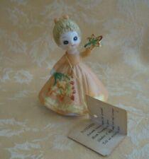 Vintage Josef Originals George Good Novembe Birthday Flower Girl Figurine 1974