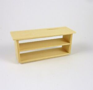Dollhouse Miniature Unfinished 1:24 HALF Scale Store Counter, Open, H520