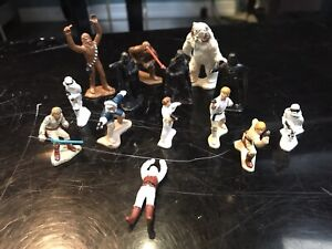 Star Wars Tiny Metal Action Figures Lot Of 14 Used