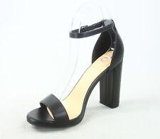 NEW Women's Color  Open Toe Ankle Strap Chunky Heel Dress Sandal Size 5.5 - 11