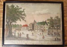 Georg Probst Engraving - Vue de la Maison Appellee Oranje Zaal - Circa 1770