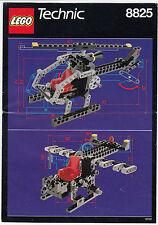 LEGO Technic 8825 elicottero di 1990 recipe only instruction