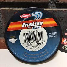 Berkley Fireline Fused Crystal Superline 14 lbs 125 yd Microfused Dyneema