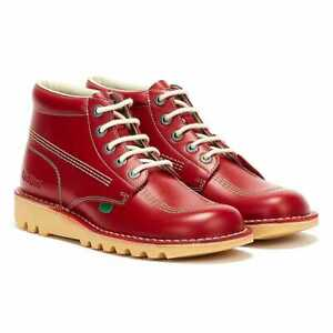 Kickers Kick Hi Mens Red Leather Boots