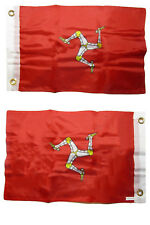 12x18 Isle of Man Country 2 Faced 2-ply Nylon Wind Resistant Flag 12x18 Inch