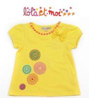 LOLA ET MOI - PROMO -70% - T-shirt Utopia fantaisie jaune - Neuf avec étiquette