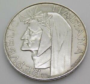 1965 Italian Silver Coin 500 Lire Silver 835/000 Poet Dante Alighieri Inferno