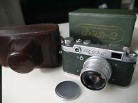 RARE GREEN FED 2 film rangefinder camera Industar-26m f2.8/50mm Original Box