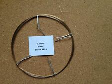 0.2mm x 30m 36 Swg Brass Wire Jewellery Beading Craft Model Art Railway