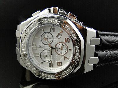New Mens Aqua Master Jojino Joe Rodeo Octagon 45 MM Diamond Watch W#325 1.5 CT