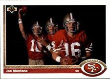 1991 Upper Deck #54 Joe Montana 3X UER/(Born Monongahela,/not New Eagle) 49ers
