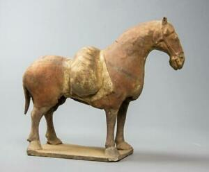 Rare Chinese Northern Wei Dynasty Painted Pottery Pack Horse: 5th Century AD.