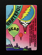 Grateful Dead Backstage Pass Hot Air Balloon Puzzle Michigan Lakes 3/24/1992 MI