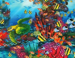 """John Enright """"THE REEF"""" Fish Fantasy Sea 500 Pieces BOXLESS Jigsaw Puzzle *NEW*"""
