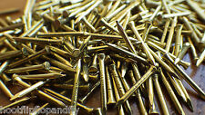 "50g 3/4"" 20mm ( APPROX 190 ) SOLID BRASS PANEL PINS NAILS TACKS HARDBOARD BEAD"