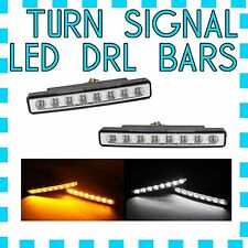 Cadillac White Fog LED DRL Light + Amber Turn Signal V - FREE USA SHIPPING