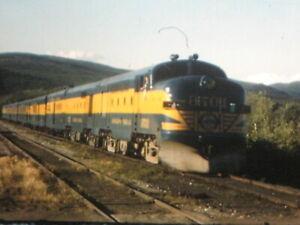 16mm FILM HOME MOVIE Trip across ALASKA by steam & diesel railroad train COLOR