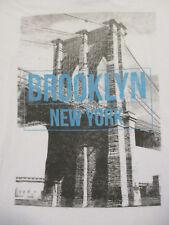 XL white BROOKLYN NEW YORK t-shirt by AMERICAN APPAREL