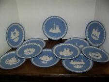 Vintage Wedgwood CHRISTMAS HOLIDAY Plates Dishes BLUE JASPERWARE 1969-1979