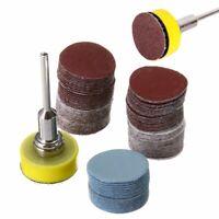 """100Pcs Mix SandPaper & Abrasives 1"""" Hook & Loop Backer Plate 1/8"""" inch Shank Set"""