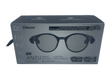 Razer - Anzu Smart Glasses Bluetooth Round Frame Bundle (Large) - Black