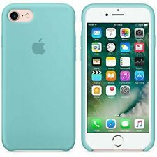 "Official Real Apple iPhone 7/8 4.7"" Silicone Case Light Marine Sea Blue"