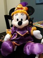 Disney Parks Minnie Mouse Halloween Witch Plush 2009
