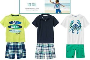 NWT Gymboree Boys Tide Pool Outfits and Sets U-Pk Sizes: 5, 5-6/5, 5-6/5T