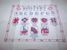 """Patriotic QUILTER'S SAMPLER Counted Cross Stitch 7"""" x 9"""" Red White & Blue"""