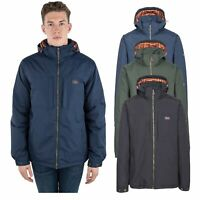 Trespass Savio Mens Waterproof Jacket with Hood In Blue Green & Black