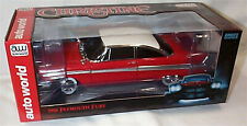 Christine / 1958 Plymouth Fury Red White Roof Working lights 1:18 Scale AWSS102