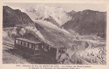 CPA 73 Chemin de Fer du Mont Blanc La Rampe du Mont Lachat Le Glacier et l'aigui
