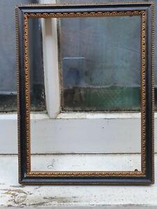 "ANTIQUE HOGARTH BLACK GOLD WOOD WOODEN PHOTO PICTURE FRAME 7""W X 9 1/4""D (D)"