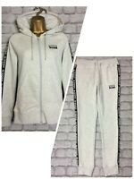 ADIDAS ORIGINALS LADIES GREY TAPE JERSEY FULL ZIP HOODIE RRP £55 PANTS JOGGERS